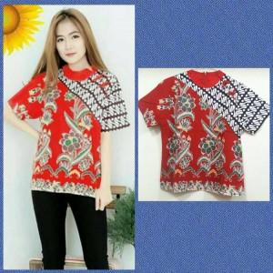 Harga blouse batik kathy 3 blouse batik katun | HARGALOKA.COM