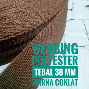 Harga webbing tali tas polyester tebal 38 mm halus 1 roll warna | HARGALOKA.COM