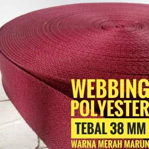 Harga webbing tali tas polyester tebal 38 mm halus warna | HARGALOKA.COM