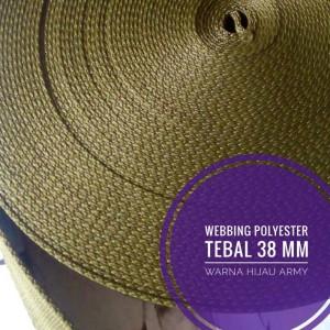 Harga webbing tali tas polyester tebal 2 mm halus 1 roll hijau | HARGALOKA.COM
