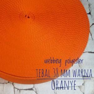 Harga webbing tali tas polyester tebal 2 mm halus 1 roll warna | HARGALOKA.COM