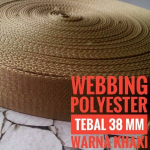 Harga webbing tali tas polyester tebal 38mm halus warna | HARGALOKA.COM