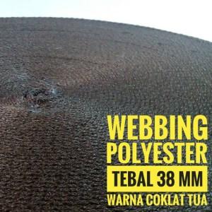 Harga webbing tali tas polyester te38 mn halus 1 roll warna coklat | HARGALOKA.COM