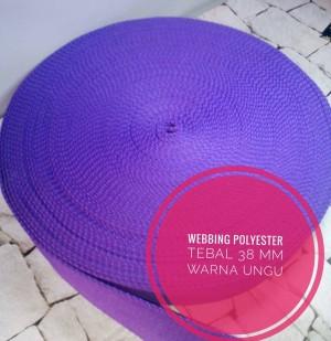 Harga webbing tali taspolyester tebal 38 mm halus 1 roll warna | HARGALOKA.COM