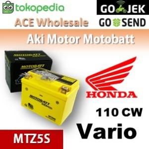 Harga aki honda vario 110 cw motobatt mtz5s kering motor u gs   HARGALOKA.COM