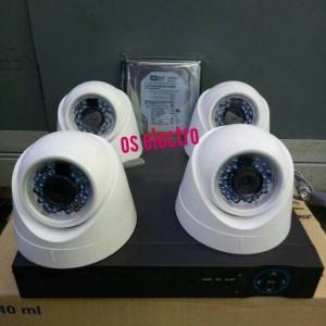 Harga camera cctv paket 8chanel 5 camera indoor turbo hdtvi lens 3mp | HARGALOKA.COM