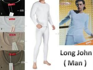 Harga setelan long john thermal anti dingin set baju celana utk | HARGALOKA.COM