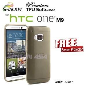 Harga softcase for htc one m9 s jacket premium clear tpu free sp   HARGALOKA.COM