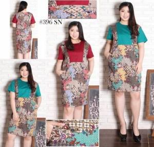 Harga dress batik jumbo 396 | HARGALOKA.COM