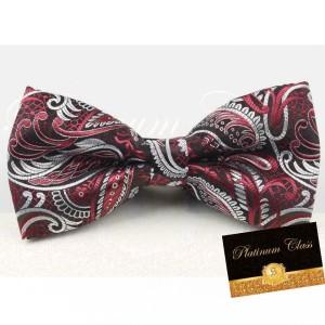 Harga dasi kupu import ukuran dewasa batik merah platinum | HARGALOKA.COM