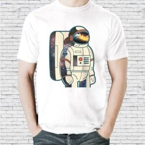 Harga baju kaos distro pria unisex karakter astronaut | HARGALOKA.COM