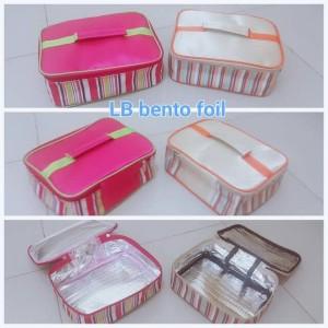 Harga lunch bag aluminium foil salur bekal makan   hijau | HARGALOKA.COM