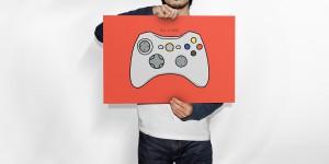 Harga poster game controller nintendo wiiu   ukuran a3 | HARGALOKA.COM
