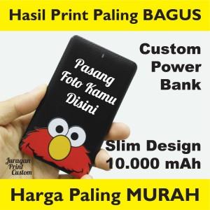 Harga power bank custom 10 000mah murah print 2 muka powerbank 10000mah   | HARGALOKA.COM