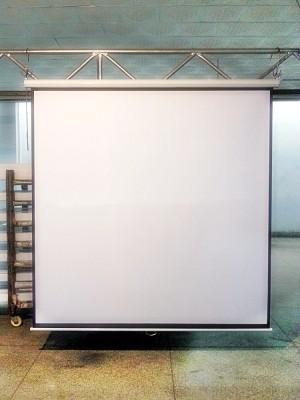 Harga screen projector wall manual 96 in  layar proyektor manual gantung 96 34 | HARGALOKA.COM