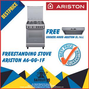 Harga kompor freestanding ariston a6 gg 1f free cooker hood   HARGALOKA.COM