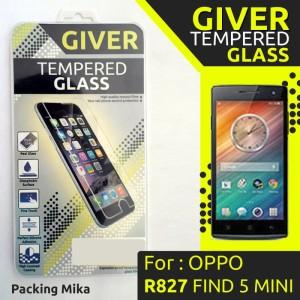 Harga anti gores tempered glass giver oppo r827 find 5 mini | HARGALOKA.COM