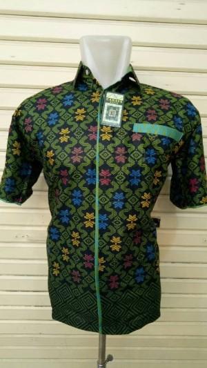 Harga hem batik katun songket hijau tangan | HARGALOKA.COM