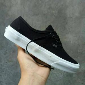 Harga sepatu vans authentic mono black white premium qualitu waffle | HARGALOKA.COM
