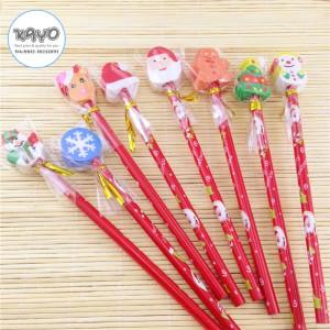 Harga pensil edisi natal pensil santa pensil penghapus kayo | HARGALOKA.COM