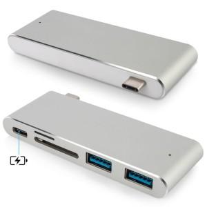 Harga usb hub type c for apple macbook windows 5 in 1 card reader and hub   | HARGALOKA.COM