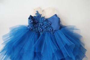 Harga baju pesta anak biru elektrik happyelm malaika blue   | HARGALOKA.COM