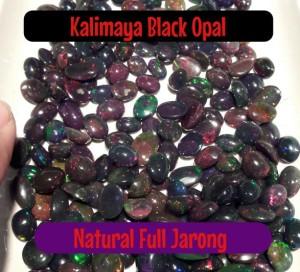 Harga natural kalimaya black opal full jarong siang malam warna kombinasi | HARGALOKA.COM