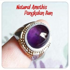 Harga cincin amethis natural pangkalan bun kilap mulus mantap ring tanam | HARGALOKA.COM