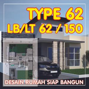 Harga gambar desain rumah type 63   gambar rumahh siap bangun amp siap | HARGALOKA.COM
