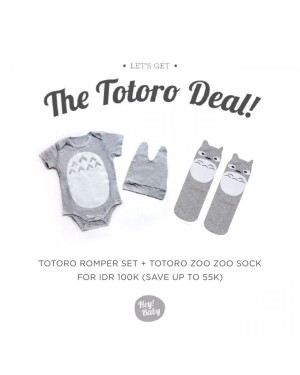 Harga hey baby the totoro deal romper topi socks   12 18 | HARGALOKA.COM