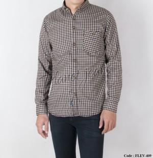 Harga baju kemeja kotak flanel pria lengan panjang bahan flannel slimfit   HARGALOKA.COM