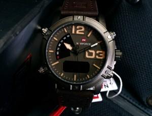 Harga jam tangan naviforce 9095 dark brown black | HARGALOKA.COM