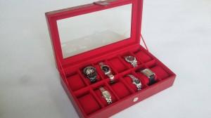 Harga tempat jam tangan isi 12 termurah hanya 1 kg dengan jasa kirim jne   abu abu | HARGALOKA.COM