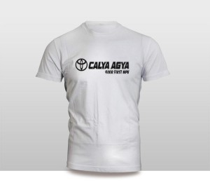 Harga kaos baju pakaian otomotif mobil toyota calya agya murah   putih | HARGALOKA.COM