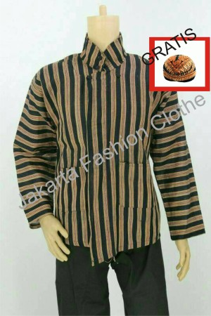 Harga baju surjan dewasa gratis blangkon lurik batik adat | HARGALOKA.COM