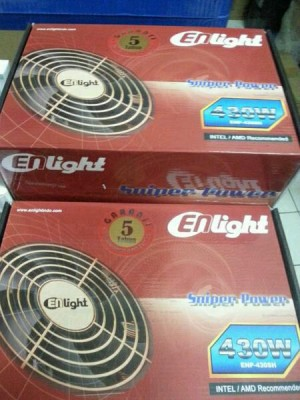 Harga power supply enlight 430w black silver 80   HARGALOKA.COM