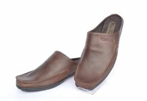 Harga sepatu sandal selop pria kulit asli kickers coklat   | HARGALOKA.COM