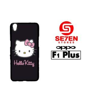 Harga casing hp oppo f1 plus r9 hello kitty black custom hardcase | HARGALOKA.COM