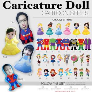 Harga bantal boneka foto karikatur custom   xtralarge cartoon series 70cm | HARGALOKA.COM