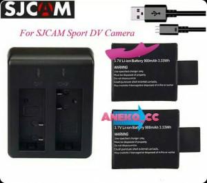 Harga dual desktop charger 2 baterai sport cam action camera for   HARGALOKA.COM