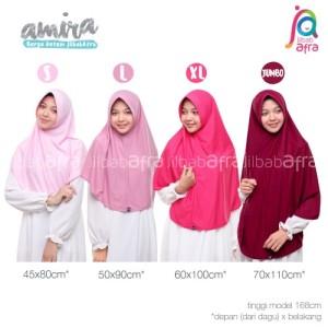 Harga jilbab afra model amira size jumbo bergo antem   HARGALOKA.COM