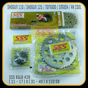 Harga girset sss shogun 125 110 tornado smash rk cool baja 428 110   HARGALOKA.COM
