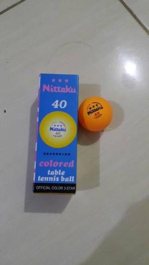 Harga bola pingpong tenis meja nittaku isi 3 murah | HARGALOKA.COM