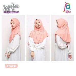 Harga jilbab afra model syifa ukuran s dan m khimar hijab   HARGALOKA.COM