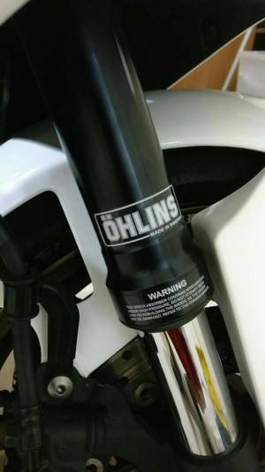 Harga sticker shock ohlins original look a like white version warna putih | HARGALOKA.COM