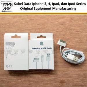 Harga lighting usb apple iphone 4 4g 4s 4c original oem kabel data | HARGALOKA.COM