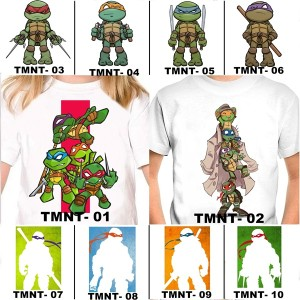 Harga kaos baju anak ninja turtle 10 desain free tulisan nama | HARGALOKA.COM
