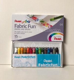 Harga atk0321pt 15 warna fabric fun pts 15 pastel dye sticks pentel   HARGALOKA.COM