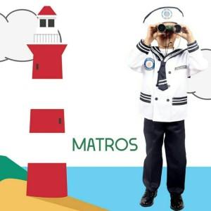 Harga seragam profesi anak matros celana baju pelaut sailor cilik laki 613   size | HARGALOKA.COM