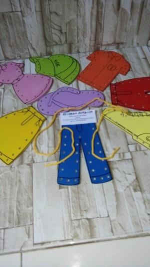 Harga mainan edukasi anak mainan edukatif mainan menjahit baju 8 | HARGALOKA.COM